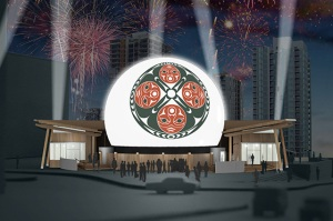 Artist's rendition of the Four Host First Nations Pavilion
