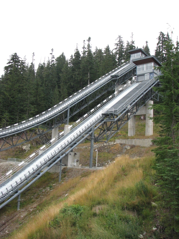 Ski jumps at Whistler Olympic Park