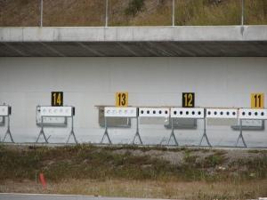 Biathlon targets (12x zoom, darn dog :) )
