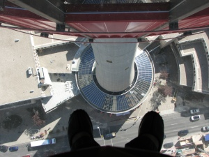 Glass floor of the Calgary Tower