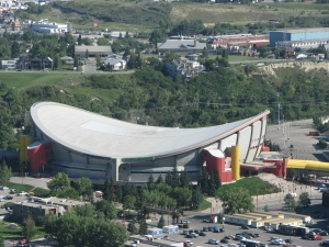 Pengrowth Saddledome from the Calgary Tower