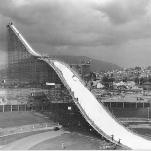 Empire Stadium ski jump - 165 feet high!
