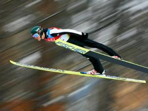 V-style ski jumping.  Photo from vancouver2010.com