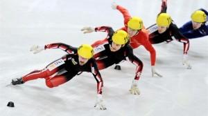 Men's ISU World Cup 500m race in Seoul, South Korea