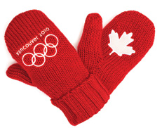 Vancouver 2010 Red Mittens - Your way to show our athletes your support!