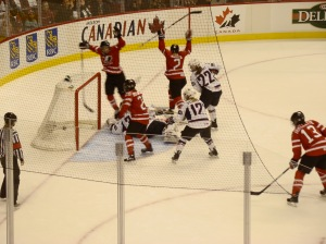 Canada Scores!!  Goal by number 2 Meghan Agosta