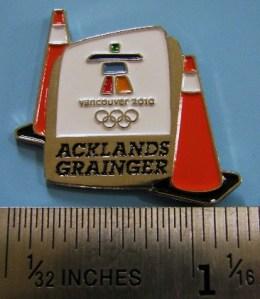 Acklands Grainger cones pin