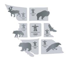BC Wildlife 7 pin puzzle set