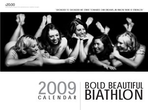 Bold Beautiful Biathlon calendar fundraiser