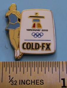 Cold-FX pin - Joannie Rochette (photo of pin by pincollectorsite.com)