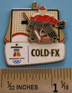 Cold-FX slider goalie pin - tres cool!!