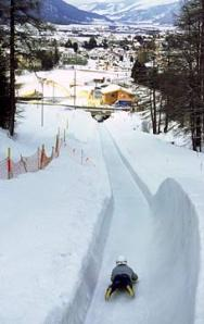Part of the Cresta Run - St. Moritz