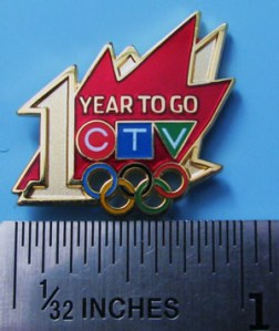 CTV 1 Year to Go pin - photo by pincollectorssite.com