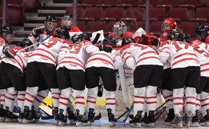 Team Canada at the Hockey Canada Cup - photo from Hockey Canada photographer Jeff Vinnick