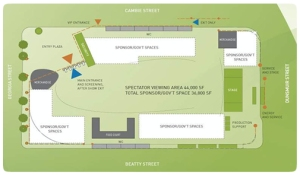 Schematic of the LiveCity Downtown layout - Canada House will be hosted here!