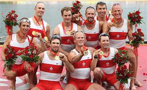 Beijing 2008 Team Canada Men's 8 Rowing with their Gold Medals!