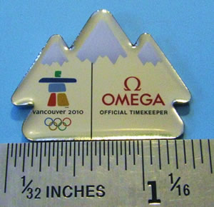 Omega mountain pin - really cute!