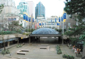 Before picture of Robson Square (the link takes you to where I found the photo).