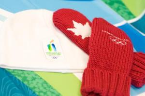 The official Torchbearer mittens and toque!