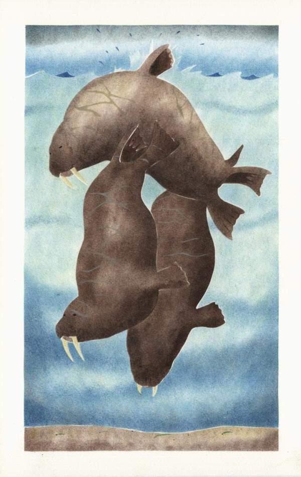 Roaming Walruses by Andrew Qappik
