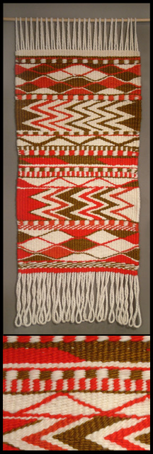 Coast Salish woven blanket by Debra Sparrow