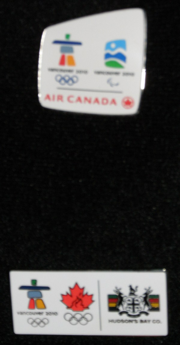 Bottom - my HBC work pin.  Top - So exciting!  Air Canada sent me some pins for my 'friends and readers'!  That means you!  I'll be posting up a contest in the next couple of days on how you can get yours!!