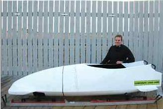 Pierre Lueders and a two-man bobsleigh.  The decal on the right shows where your name would go!