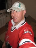 Tony with his Vancouver 2010 hat and Team Canada Hockey Jersey!!  Sweet!