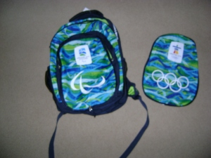 The backpack, ready for the Paralympics!