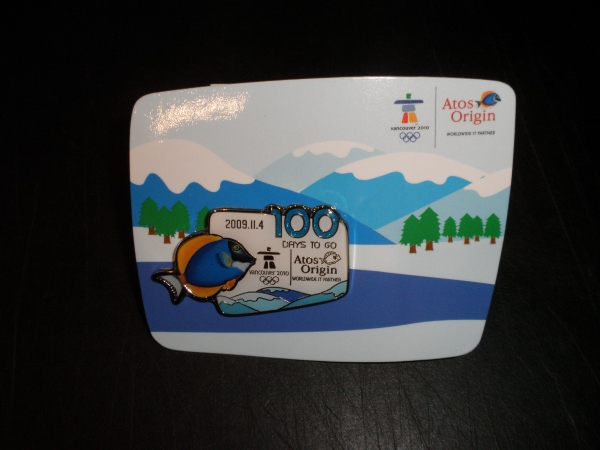 Atos 100 days pin